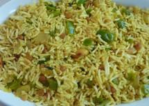 South Indian Capsicum Rice Recipe