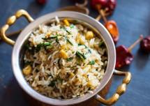 Healthy Corn Methi Pulao Recipe