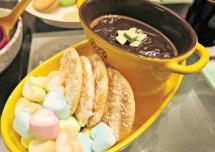 Creamy Caramel Chocolate Fondue Recipe