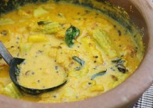Drumstick Dry Mango Curry Recipe