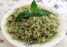 Mint Coriander Rice Recipe