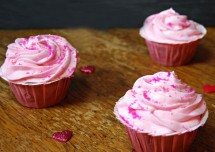 Birthday Special Pink Velvet Cup Cakes Recipe