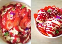Quick Strawberry and Chocolate Sundae