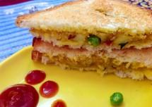 Potato-Pea Veg Sandwich Recipe