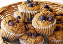 Low Fat Blueberry Bran Muffins recipe