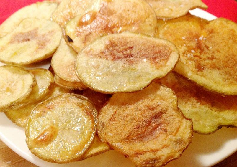 Homemade Baked Potato Chips Recipe