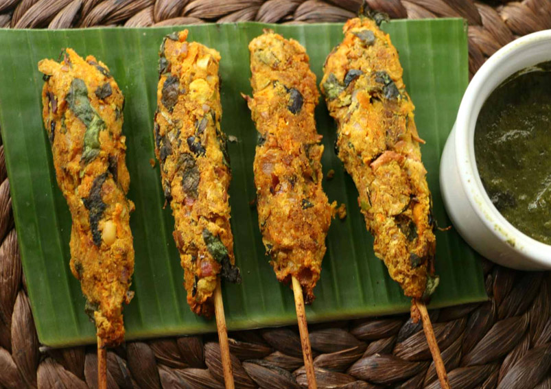 Lip- Smacking Corn Seekh Kebab Recipe