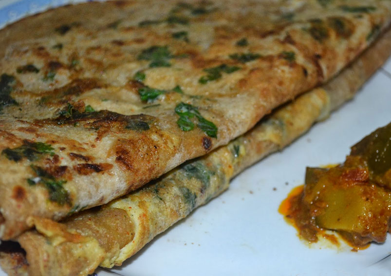Easy breakfast egg paratha