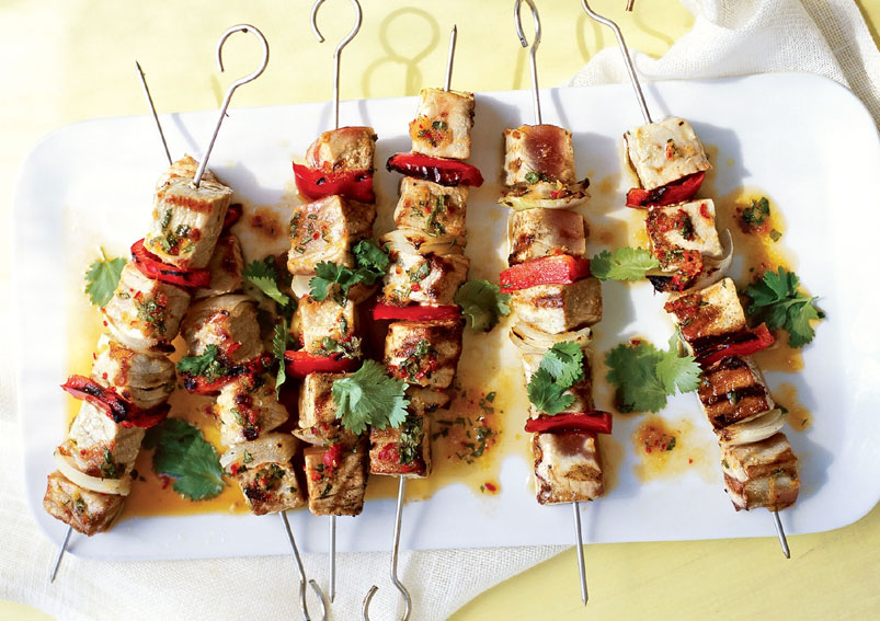Grilled Marinated Fish Kabab Recipe