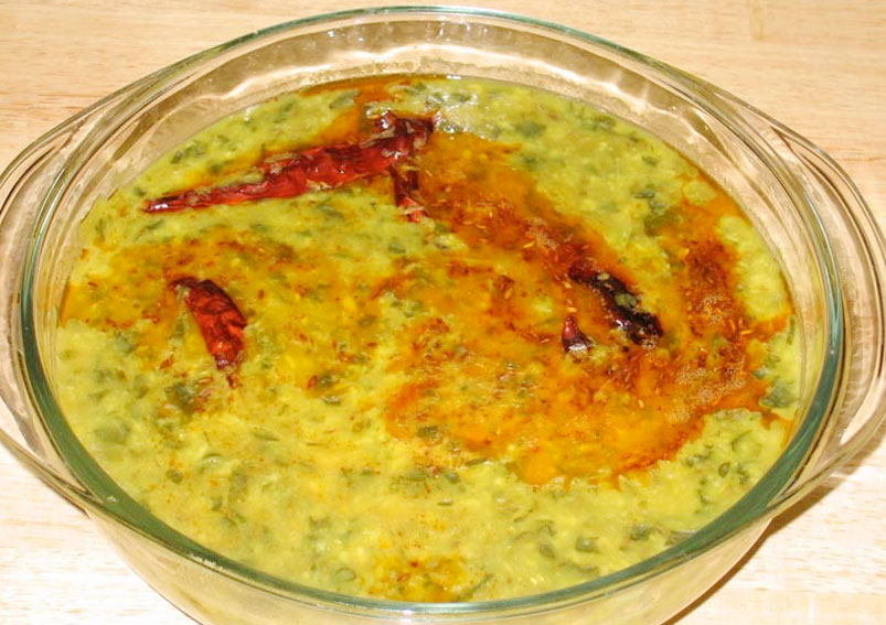 Healthy Moong Dal with Spinach