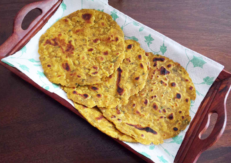 Easy Jowar and Vegetable Paratha Recipe