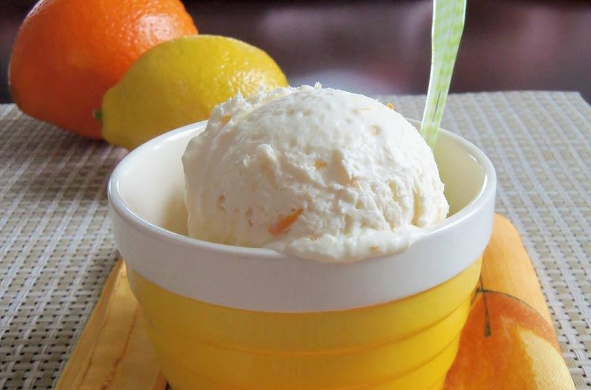 Tasty Lemon and Orange Ice Cream Recipe