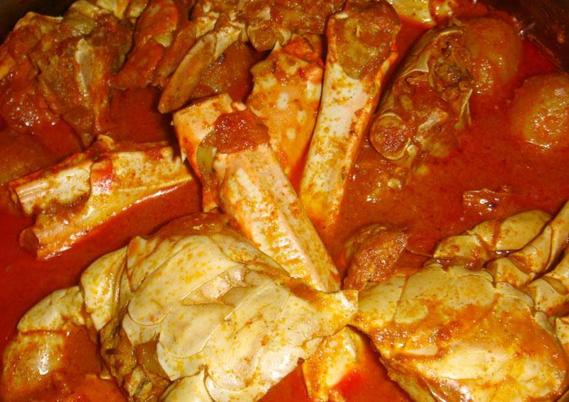 Mardi Gras Special Indian Crab Curry Recipe