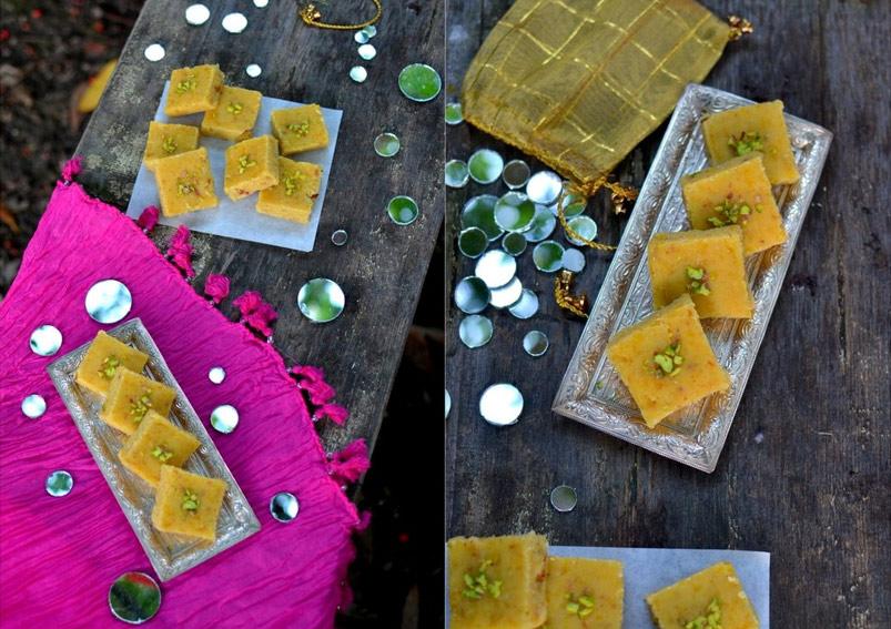 Soft and Tasty Moong Dal Burfi Recipe