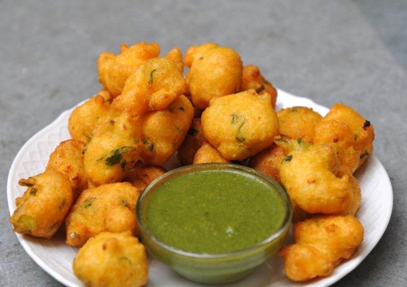 Corn(Makai) Paneer Pakora Recipe