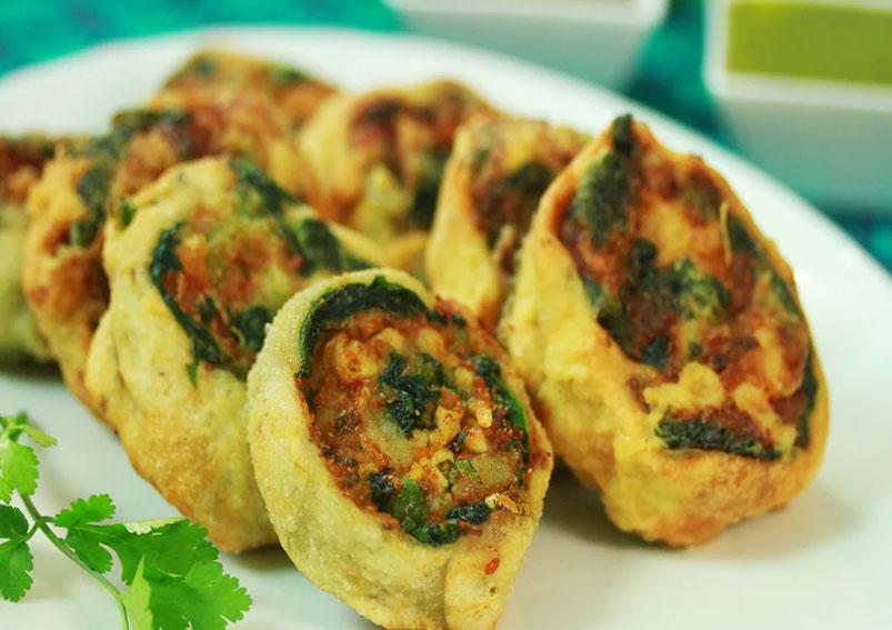 Vegetable Pinwheel Samosa Recipe