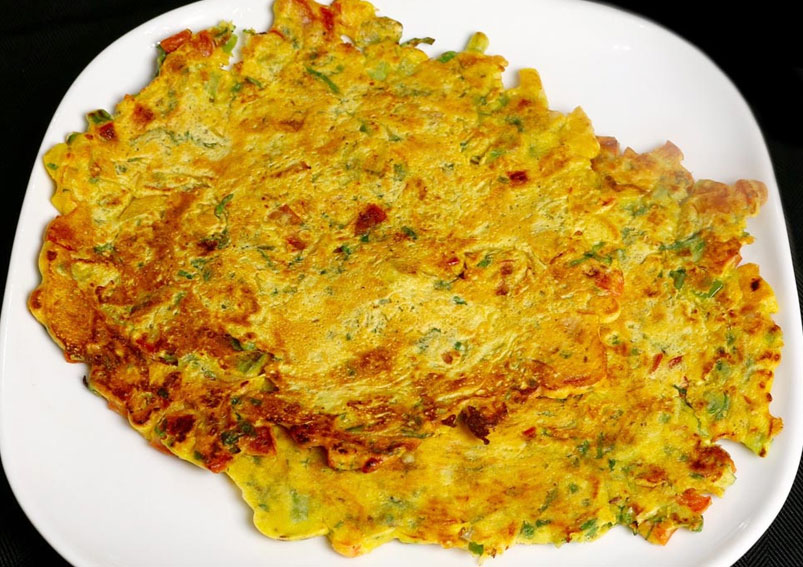 Tasty Eggless Omelet Recipe