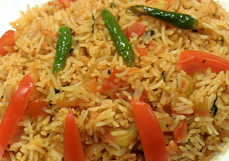 South Indian Style Tomato Rice Recipe