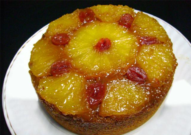 Eggless Pineapple Upside Down Cake