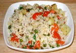 Tasty Vegetable and Cheese Rice Recipe