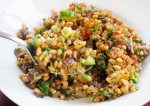 Whole Wheat Salad with Corn and Peanuts Recipe
