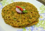 Green Moong Dal and Spring Onion Paratha Recipe