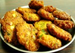 Kalmi Vada Fried Lentil Patties Recipe