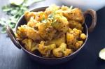 Mughlai Cauliflower Potato and Green Pea Subzi Recipe