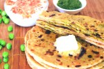 Low -Fat Paneer and Green Pea Stuffed Paratha Recipe | Yummy food recipes