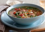 Healthy Corn Spinach Tomato Soup Recipe