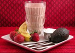 Chocolate Banana Strawberry Milk Shake Recipe