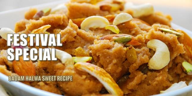 Badam Halwa Sweet Recipe