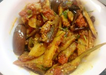 South Indian Style Brinjal Fry Recipe