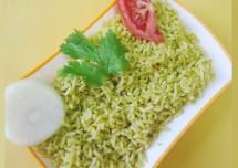 Texan Palak Rice Recipe