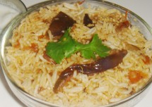 Yummy Egg Plant (Brinjal) Rice Recipe