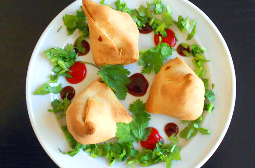 Baked Samosa with Mixed Sprouts Recipe