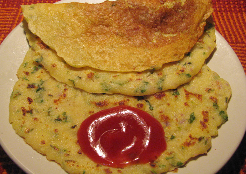 Besan Ka Chila - Veg Recipe