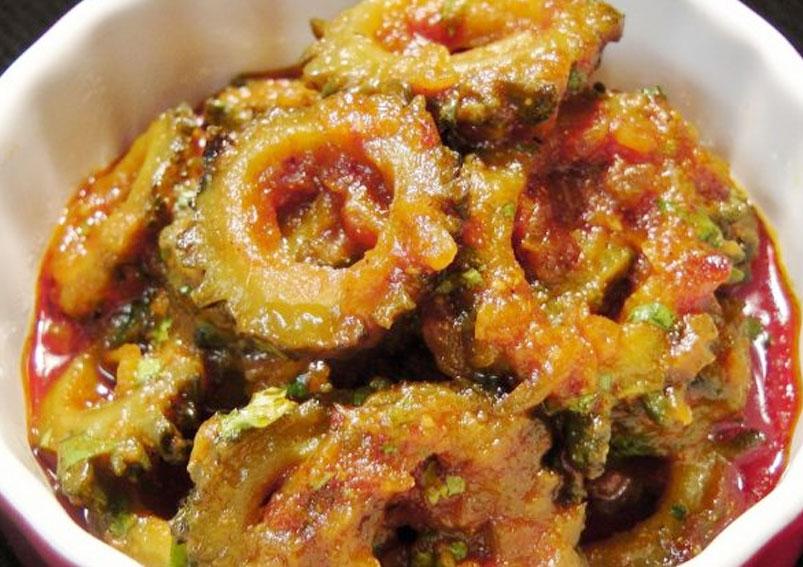Onion and Karela Sabji Recipe