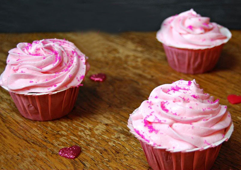 Birthday Special Pink Velvet Cup Cakes Recipe
