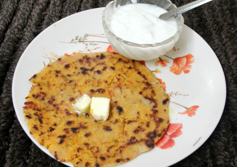 Tasty Leftover Rice Paratha Recipe