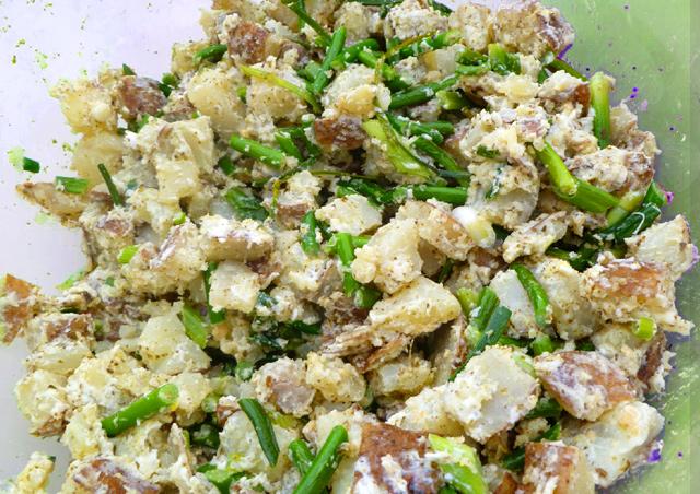 Garlic-Potato Healthy Salad