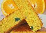Eggless Orange Slice Cake Recipe