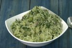 Easy Green Pea and Spinach Rice Recipe